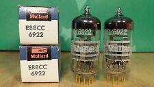 Pair of Mullard 6922 E88CC NOS NIB Gold Pin 1968 Vacuum Tubes - 10% matched