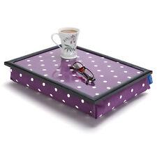 Bean Bag Cushioned Lap Tray in Purple Spotty