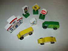 Melissa and Doug Disney Donald Duck, Buildings & Cars Wooden Toys Lot Of 8
