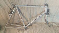 Vintage Peugeot 70s road bike frame + parts 60cm steel horizontal dropouts