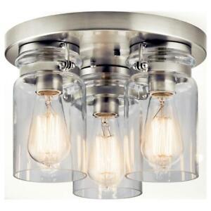 Kichler 42891 Brinley 3 Light Flush Mount Ceiling Fixture