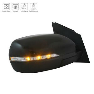Passenger Side Door Mirror With Puddle Lamp 128-04733R