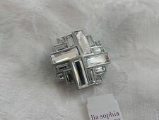 Lia Sophia Superluxe Pin Slide Pendant, silver with crystals