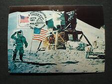 "USA United States: MK MC stamp card FIRST MAN ON THE MOON ""PHILATOKYO 9.10.1981"""