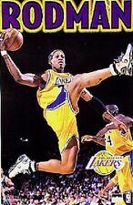 1999 Dennis Rodman Los Angeles Lakers Original Starline Poster OOP