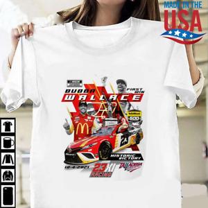 HOT!!! Bubba Wallace Checkered Flag 2021 YellaWood 500 Race Winner T-Shirt