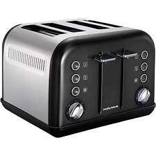 Morphy Richards Accents 4 Slice Wide Slot Toaster In Black Variable Width 242002