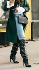 Other Stories slouch 80s style over knee thigh stiletto heel boots £235 new 38uk