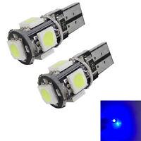 2 unidades T10/501/194/168 / W5W 5smd 5050 LED Canbus Libre De Error Coche