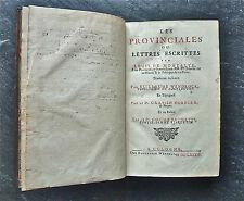 """Blaise PASCAL: Les Provinciales, Cologne 1684, """"édition des 4 langues"""", reliure"""
