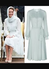 NEW Beulah London Powder Blue Sabitri Dress ASO Royal USA 4 Rare