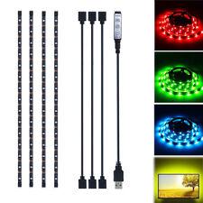 4pcs USB Strip Light RGB LED Multi Color TV Back Mood lights Mini Remote Control