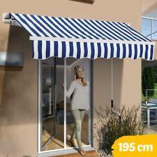 Tenda Sole Balcone a Bracci Estensibili Parasole Avvolgibile Esterno 195x150 Blu