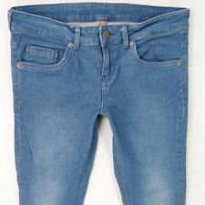 Ladies Womens TOPSHOP Skinny Stretch Blue Jeans To Fit W30 L30 UK Size 10