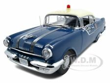 1955 PONTIAC STAR CHIEF POLICE CAR PLATINUM ED 1:18 MODEL CAR BY SUNSTAR 5046