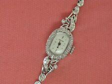 "Ladies 14K White Gold Hamilton 6"" Watch 36 Diamonds-.42CTTW (Estate Jewelry)"