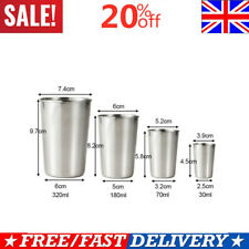 30ml/50ml Stainless Steel Cups Tumbler Pint Glasses Metal Cold Cup Spirits Cup K