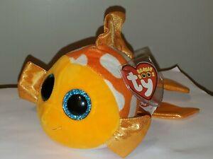 TY Beanie Boos - SAMI the Orange Fish (Glitter Eyes)(6 inch) NEW MWMT