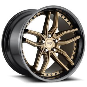 "Niche M195 Methos 20x10.5 5x4.5"" +40mm Bronze/Black Wheel Rim 20"" Inch"
