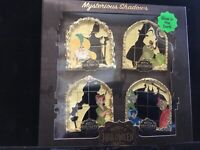 Disney Mickey's Halloween Party 2018 Mysterious Shadows LE 1000, 4 Pin Set, NEW