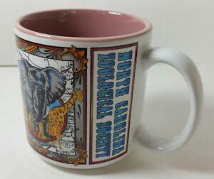 Vintage North Carolina Zoological Society Coffee Cup Souvenir Tea Mug 1992