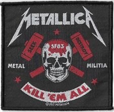 Official Licensed Merch Woven Sew-on PATCH Heavy Rock METALLICA Metal Militia
