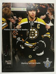 2011 Stanley Cup Playoffs Bruins 2-Sided Arena Banner Bobby Orr & Zdeno Chara