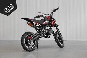 Pocketbike Dirtbike 2-Takt 49ccm 10 Zoll Automatik KXD DB701A Enduro rot