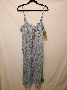 Gillian & Omalley Nightgown XXL Adjustable Strap Slip Long Open Front Chemise