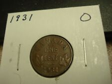1931 - Canadian penny - Canada one cent - circulated