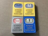 Authentic Casino Played Cards Lot 4 Caesars Palace Santa Fe D Las Vegas Bally's