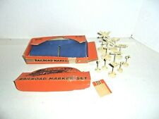 LIONEL AND AMERICAN FLYER TRAIN LAYOUTS METAL DIECAST SIGN RAILROAD MARKER SET