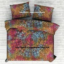 Indian Duvet Doona Cover Hippie Mandala Blanket Cover Bohemian Comforter Set