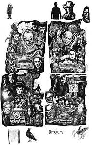 Stephen King Universe BamBox print 5 part original art by Ken Haeser!