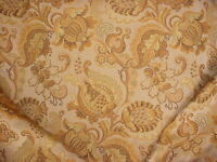 18Y LEE JOFA BROWN COPPER FLORAL JACOBEAN BROCADE UPHOLSTERY FABRIC