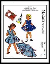 Size ~6~ APRON Sewing Pattern Toddler Girls McCall's 1921 DRESS DING DONG SCHOOL