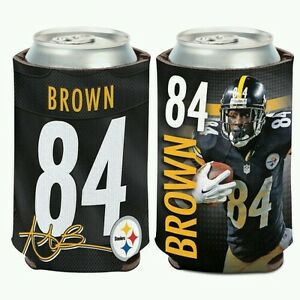 ANTONIO BROWN PITTSBURGH STEELERS 2 SIDED CAN BOTTLE COOLER COOZIE KOOZIE HOLDER