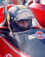 1976 Driver CARLOS PACE Glossy 8x10 Photo U.S. Grand Prix West Poster Brabham