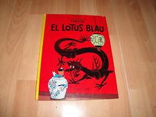 EL LOTUS BLAU LES AVENTURES DE TINTIN DE HERGE 1ª EDICIO ANY 1965 EN CATALA