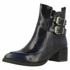 Calzado de mujer botines azules, talla 41