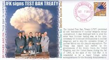 "COVERSCAPE computer designed 50th anniversary JFK signs ""Test Ban Treaty"" cover"