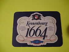 Beer Coaster: Kronenbourg 1664 Obernai France Brewery ~ Add'l Coasters $0.25 S&H