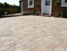 Tumbled 2 Size Block Paving, Courtyard Style in Original Colour, Pack of 9.52m2