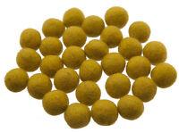 50 Cuentas Bolos De Rotulador Fieltro Natural Ø = 2.1 CM Nepal Amarillo BO15