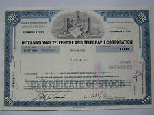 International Telephone & Telegraph Stock Share Bond Usa Wertpapier Aktie 1977