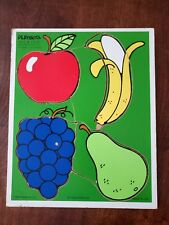 Playskool 180-06 Favorite Fruits 4 Piece Wooden Jig Saw Puzzle