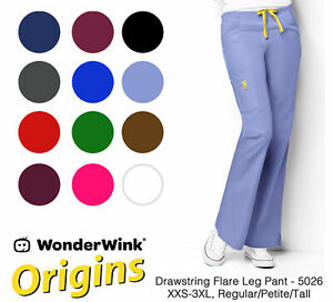 Origins Womens Romeo 5026 6 Pocket Flare Leg Pant by WonderWink-NEW-FREE SHIP