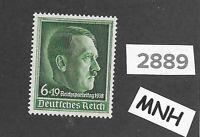 #2889     MNH Adolph Hitler 1938 Nuremberg speech stamp / Third Reich Germany