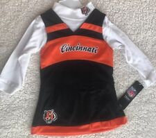 NWT Cincinnati Bengals Girl's CHEERLEADER Outfit Set SIZE 18 Months NFL Apparel