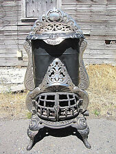 Antique Victorian CO-OPERATIVE FOUNDRY STOVE CO. 112 Parlor Pot Belly cast Iron